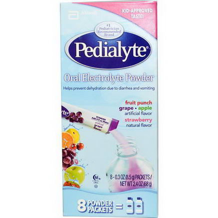 Pedialyte, Oral Electrolyte Powder, Variety Pack, 8 Powder Packets, 0.3oz (8.5g) Each
