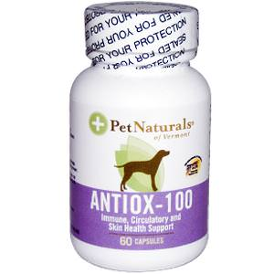 Pet Naturals of Vermont, Antiox-100 for Large Dogs, 60 Capsules