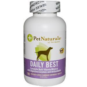 Pet Naturals of Vermont, Daily Best, Complete Multi Vitamin/Mineral for Dogs, 180 Chewable Tablets