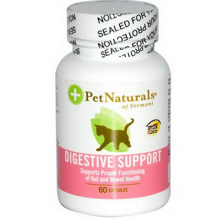 Pet Naturals of Vermont, Digestive Support for Cats, 60 Capsules