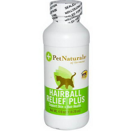 Pet Naturals of Vermont, Hairball Relief Plus, For Cats, 4 fl oz (118.29 ml)