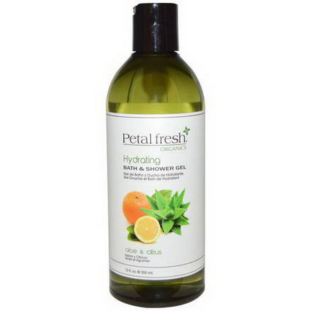 Petal Fresh, Organics, Bath & Shower Gel, Hydrating, Aloe & Citrus, 12 fl oz (355 ml)