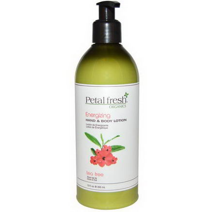 Petal Fresh, Organics Energizing Hand & Body Lotion, Tea Tree, 12 fl oz (355 ml)