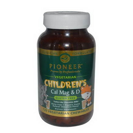 Pioneer Nutritional Formulas, Children's Cal Mag & D, Chocolate Flavor, 120 Veggie Chewables