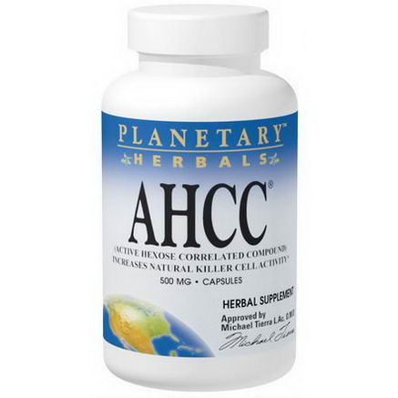 Planetary Herbals, AHCC (Active Hexose Correlated Compound), 500mg, 60 Capsules