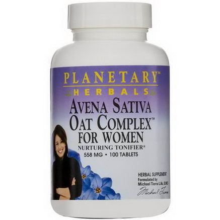 Planetary Herbals, Avena Sativa Oat Complex for Women, 558mg, 100 Tablets