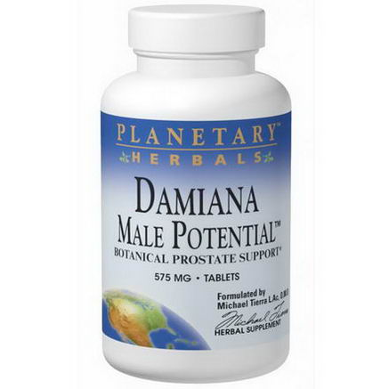Planetary Herbals, Damiana Male Potential, 575mg, 90 Tablets