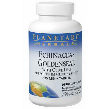 Planetary Herbals, Echinacea-Goldenseal, with Olive Leaf, 635mg, 60 Tablets