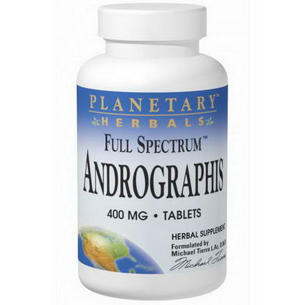 Planetary Herbals, Full Spectrum Andrographis, 400mg, 60 Tablets