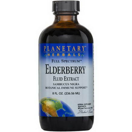 Planetary Herbals, Full Spectrum Elderberry Fluid Extract, 8 fl oz (236.56 ml)