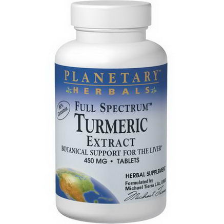 Planetary Herbals, Full Spectrum Turmeric Extract, 450mg, 60 Tablets