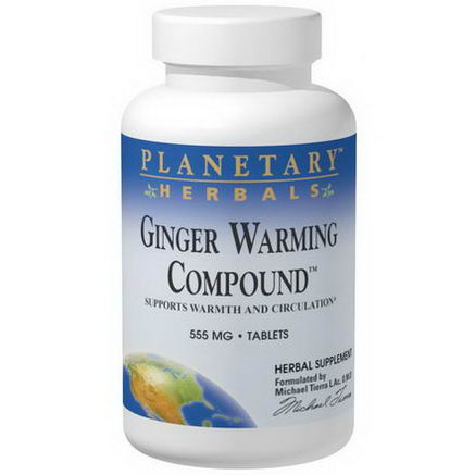 Planetary Herbals, Ginger Warming Compound, 555mg, 90 Tablets