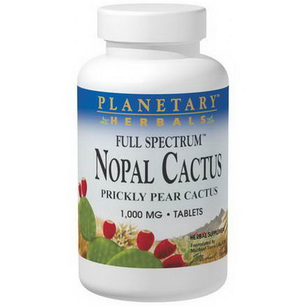Planetary Herbals, Nopal Cactus, Full Spectrum, 1, 000mg, 60 Tablets