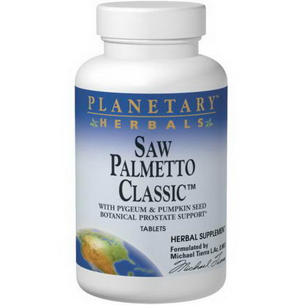 Planetary Herbals, Saw Palmetto Classic, 180 Tablets