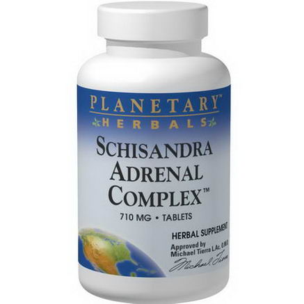 Planetary Herbals, Schisandra Adrenal Complex, 710mg, 120 Tablets