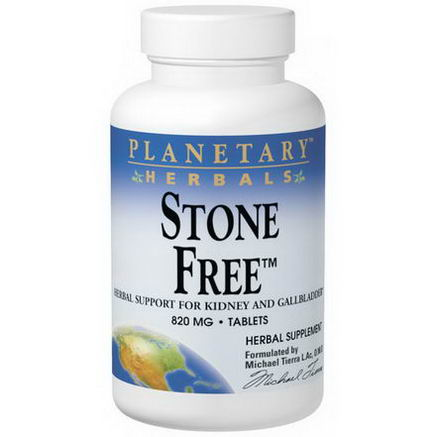 Planetary Herbals, Stone Free, 820mg, 90 Tablets