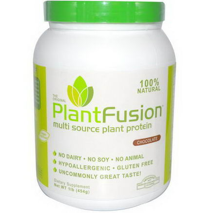 PlantFusion, Multi Source Plant Protein, Chocolate, 1 lb (454g)