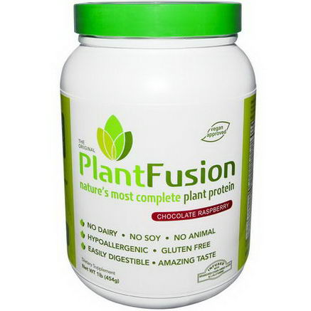 PlantFusion, Nature's Most Complete Plant Protein, Chocolate Raspberry, 1 lb (454g)