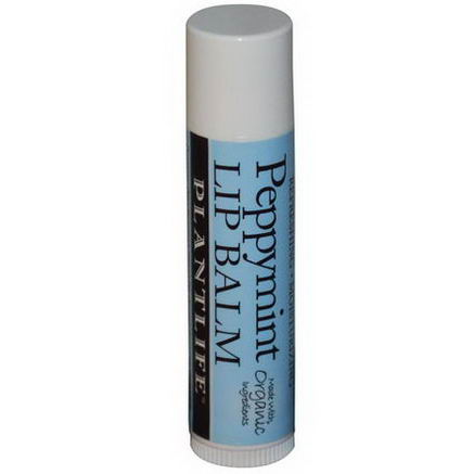 Plantlife, Peppymint Lip Balm, 25oz (7g)