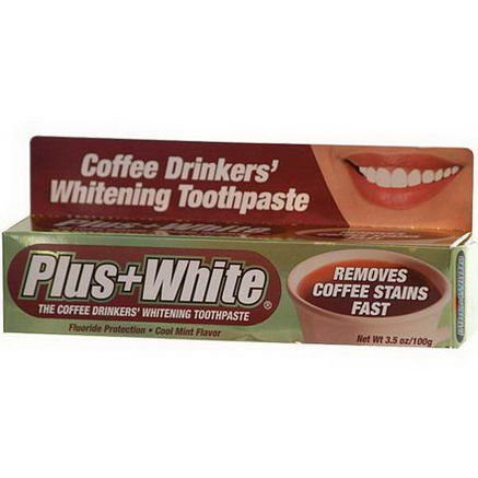 Plus White, The Coffee Drinkers' Whitening Toothpaste, Cool Mint Flavor, 3.5oz (100g)