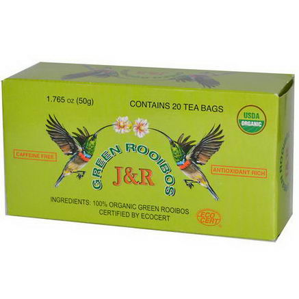 Port Trading Co. Organic Green Rooibos, Caffeine Free, 20 Tea Bags, 1.765oz (50g)