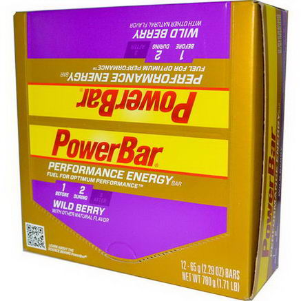 PowerBar, Performance Energy Bar, Wild Berry, 12 Bars, 2.29oz (65g) Each