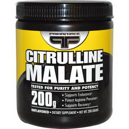 Primaforce, Citrulline Malate, Unflavored, 200g