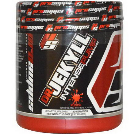 ProSupps, Dr. Jekyll, Intense Pump Pre-Workout, Punch, 10.5oz (297g)