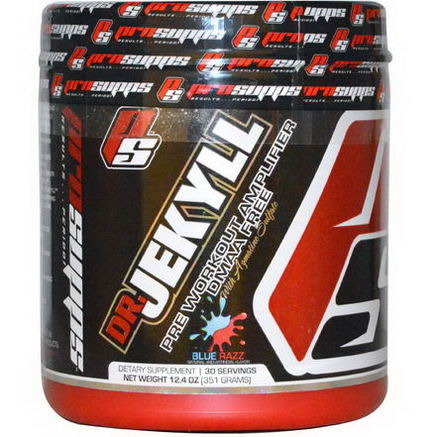 ProSupps, Dr Jekyll, Pre Workout Amplifier, Blue Razz, 12.4oz (351g)