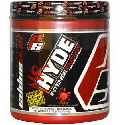 ProSupps, Mr Hyde, Intense Energy, Pre Workout, Punch, 9.6oz (272g)