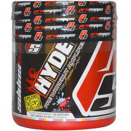ProSupps, Mr Hyde, Pre Workout Amplifier, Blue Razz, 9.6oz (272g)