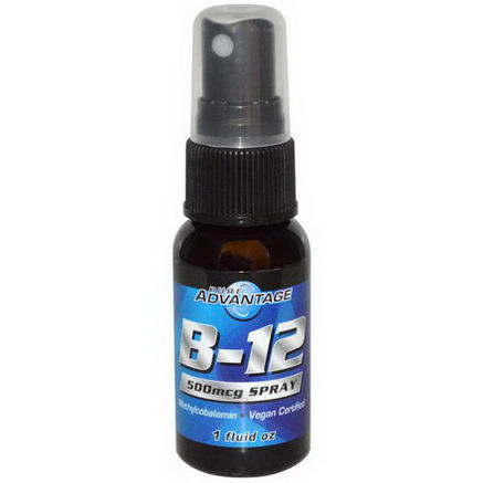 Pure Advantage, B-12 Spray, 500 mcg, 1 fl oz
