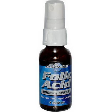 Pure Advantage, Folic Acid, 800 mcg Spray, 1 fl oz