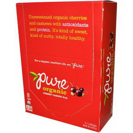 Pure Bar, Organic, Cherry Cashew, 12 Bars, 1.7oz (48g) Each