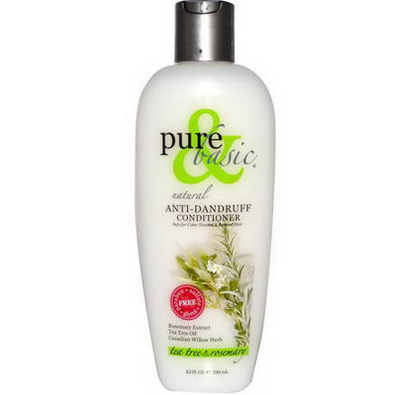 Pure & Basic, Natural Anti-Dandruff Conditioner, Tea Tree & Rosemary, 12 fl oz (350 ml)