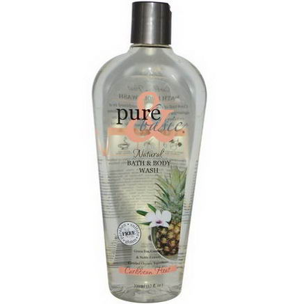 Pure & Basic, Natural Bath & Body Wash, Caribbean Heat, 12 fl oz (350 ml)