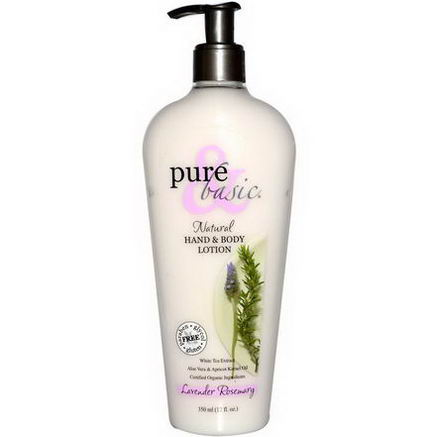 Pure & Basic, Natural Hand & Body Lotion, Lavender Rosemary, 12 fl oz (350 ml)