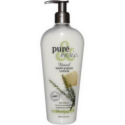 Pure & Basic, Natural Hand & Body Lotion, Revitalizing, 12 fl oz (350 ml)