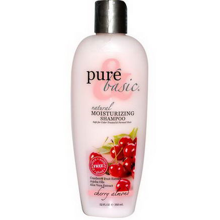 Pure & Basic, Natural Moisturizing Shampoo, Cherry Almond, 12 fl oz (350 ml)