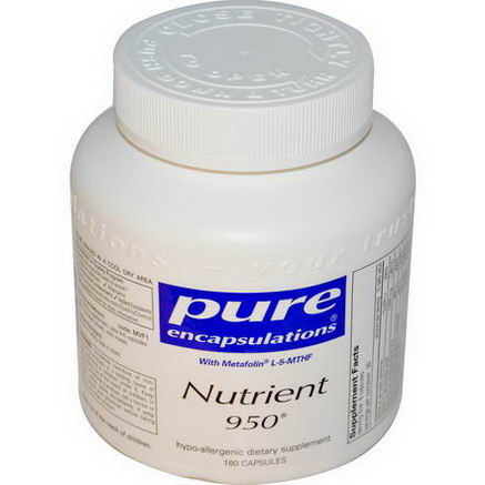 Pure Encapsulations, Nutrient 950, 180 Capsules