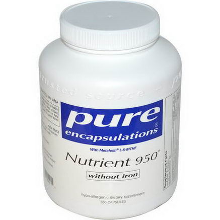 Pure Encapsulations, Nutrient 950 Without Iron, 360 Capsules