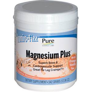 Pure Essence, Ionic-Fizz, Magnesium Plus, Orange-Vanilla, 12.06oz (342g)