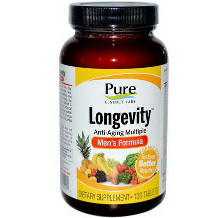 Pure Essence, Longevity, Anti-Aging Multiple, Men's Formula, 120 Tablets
