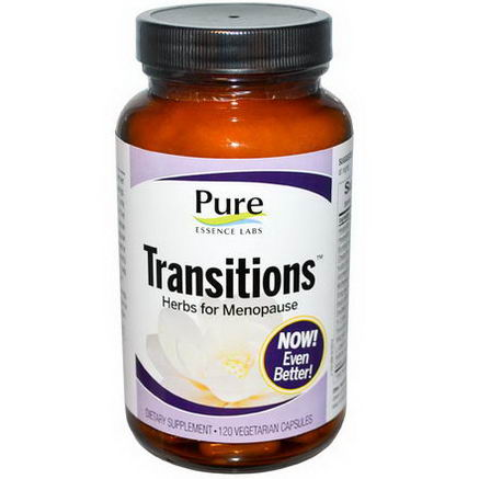 Pure Essence, Transitions, Herbs for Menopause, 120 Veggie Caps