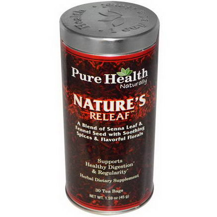 Pure Health, Nature's Releaf, 30 Tea Bags, 1.59oz (45g)