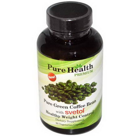 Pure Health, Pure Green Coffee Bean With Svetol, 90 Veggie Caps