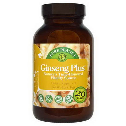 Pure Planet, Ginseng Plus, 4oz (114g)