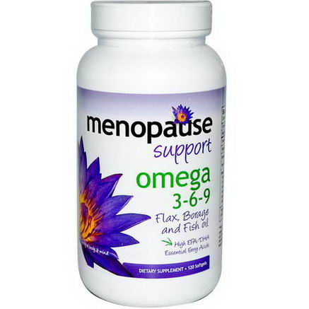 Pure Solutions, Menopause Support, Omega 3-6-9, 120 Softgels