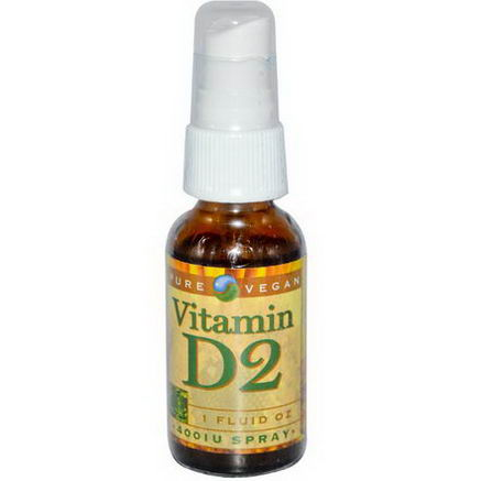 Pure Vegan, Vitamin D2, 400 IU Spray, 1 fl oz