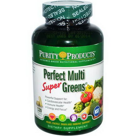 Purity Products, Perfect Multi Super Greens, 120 Veggie Caps